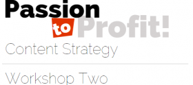 Passion and Persuasion Content Strategy